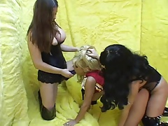 Strap-on Double penetration..